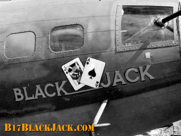 "B-17F ""Black Jack"" nose art Return to Previous Page"